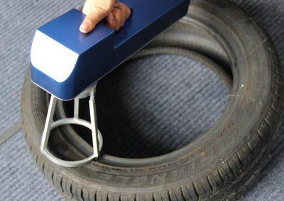 Tianhe Handheld Laser Marker Tyre Marking Application