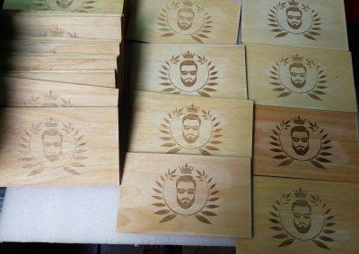 Tianhe Laser Marking Machine Wooden Panel Marking Application
